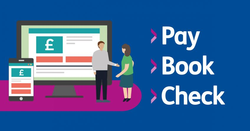 Pay Book Check page graphic