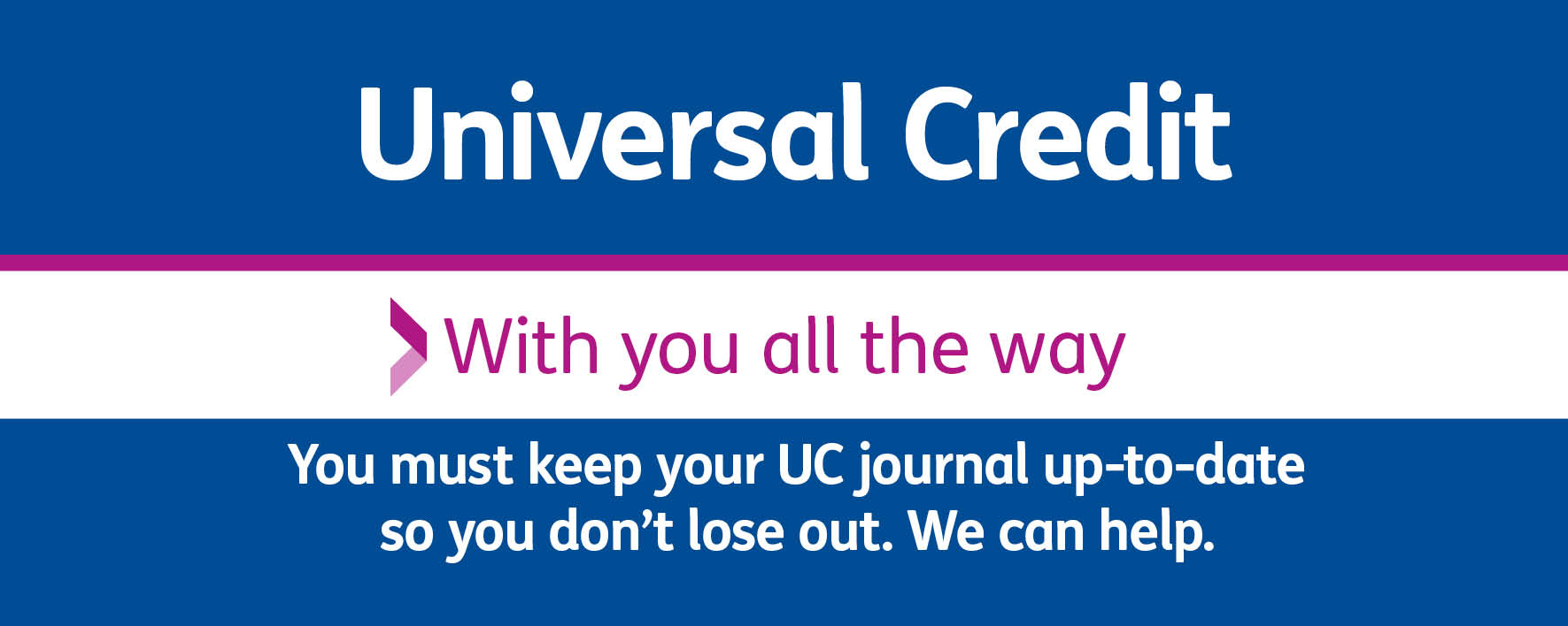 Universal Credit - with you all the way letterbox WLHP