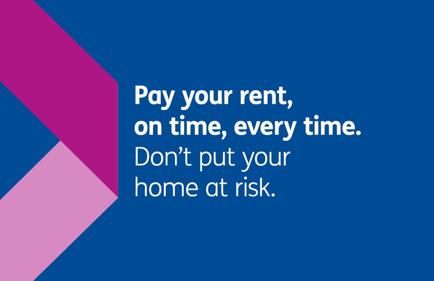 Rent campaign - Pay your rent on time every time letterbox WLHP